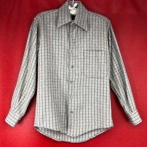 Authentic Burberry Plaid Cashmere Cotton Shirt Top